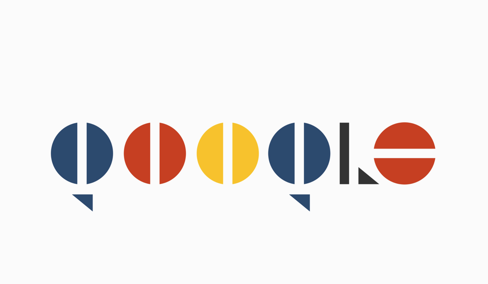 Interpretación al estilo Bauhaus del logo de Google, para el concurso de 99designs | Artopelago